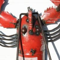 Metal Lobster Wall Hanging | Recycled Steel Drum Lobster